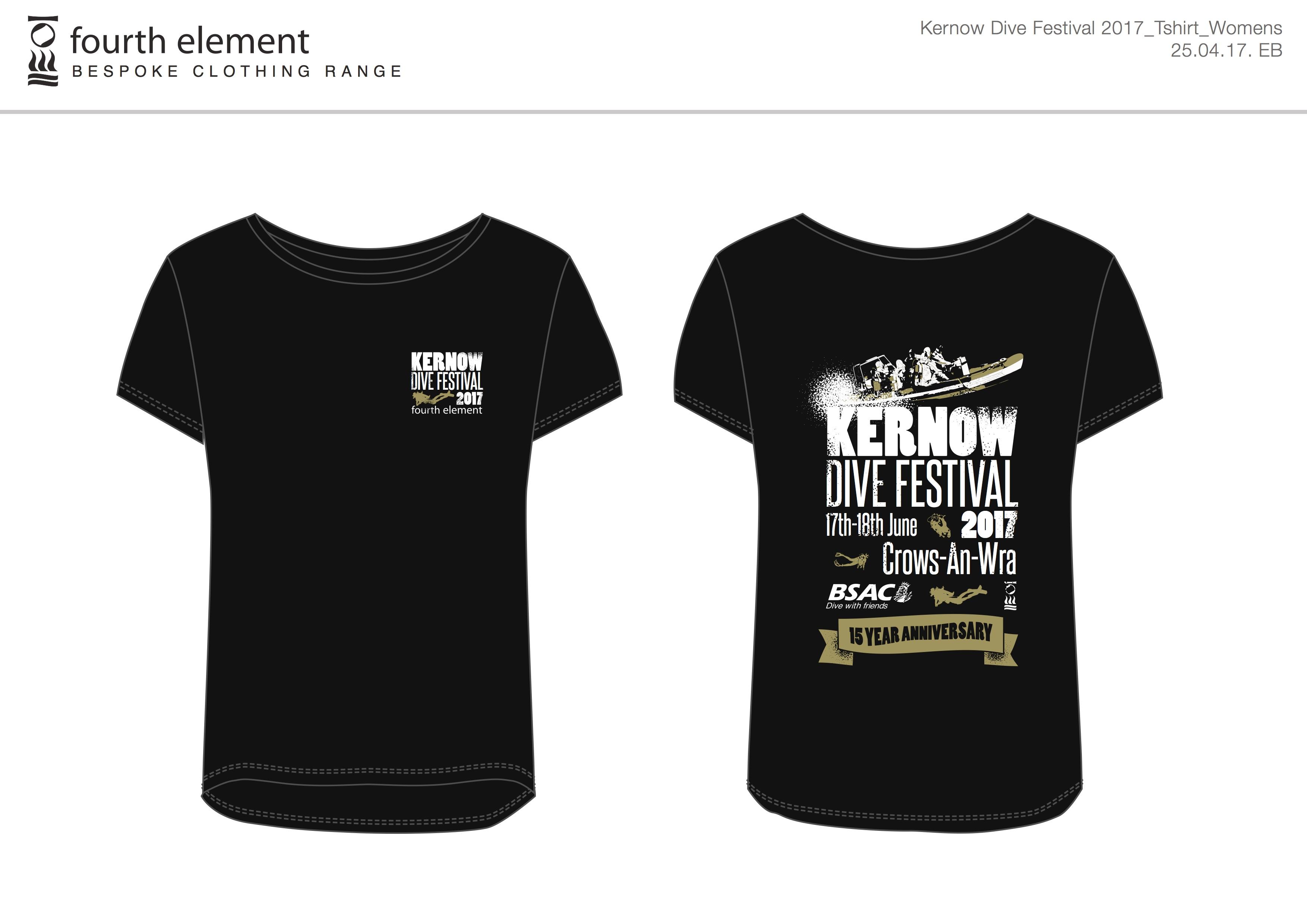 Design t shirt 2017 - Kernow Dive Festival 2017 T Shirts